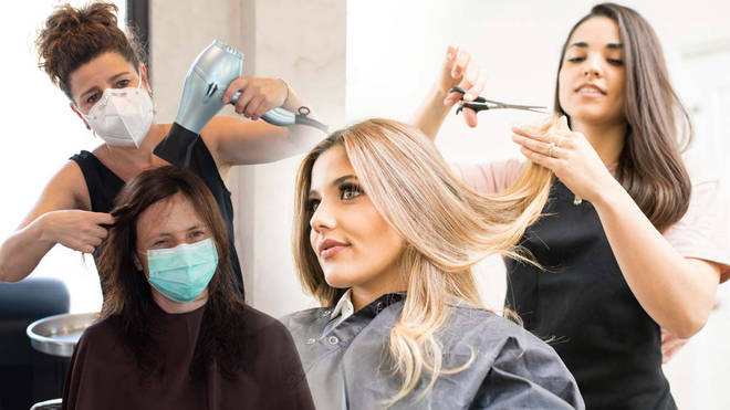 Some hairdressers are planning how they will safely reopen their salons
