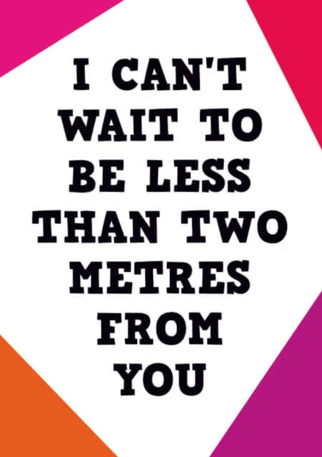Two Metres Greeting Cards