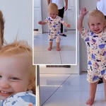 Stacey Solomon shared a video of Rex walking