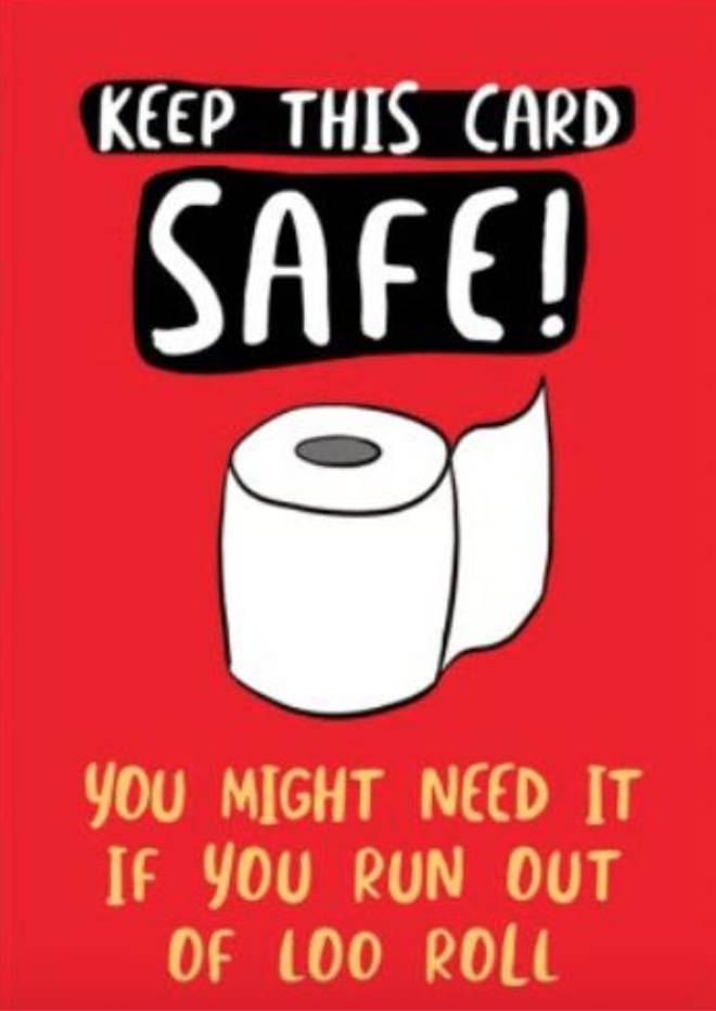 Keep This Card Safe Run Out Of Loo Roll Funny Birthday Card