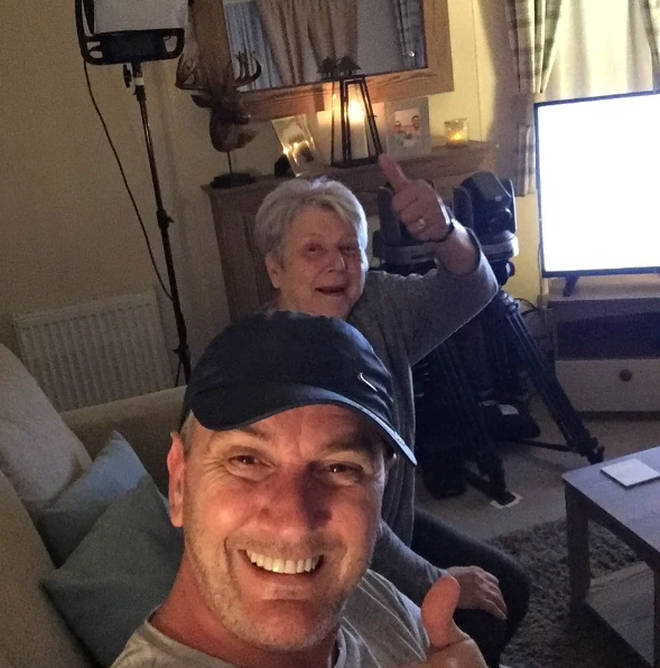 A view of Lee and Jenny's caravan from Gogglebox