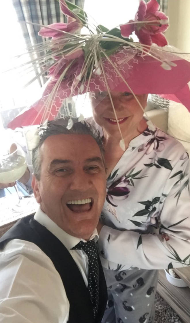 Jenny and Lee enjoyed a day at the races in their caravan
