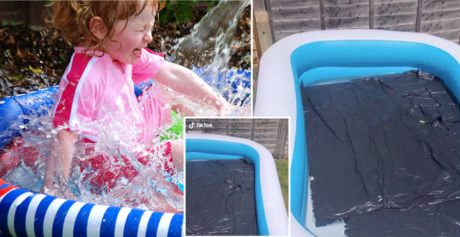 This paddling pool hack is a game-changer (left: stock image)