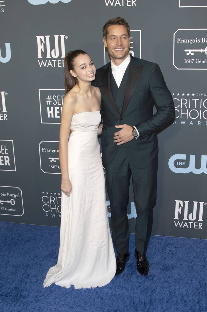 Justin Hartley with daughter Isabella Justice Hartley