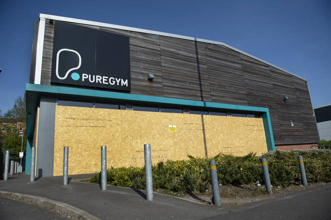 Gyms are closed across the UK to help limit the spread of coronavirus