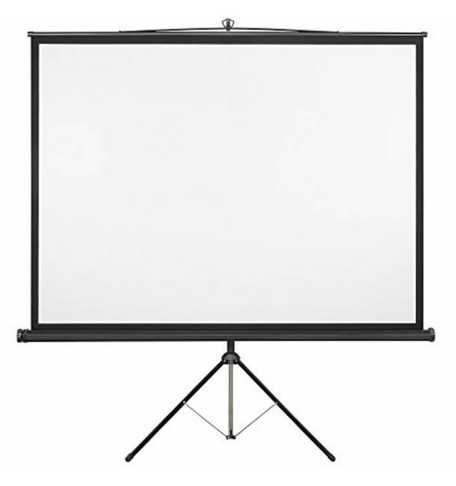 White 119cm H x 119cm W Portable Projector Screen