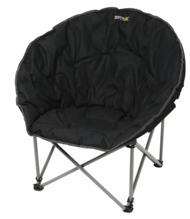 Regatta Castillo Padded Folding Lounge Chair Black