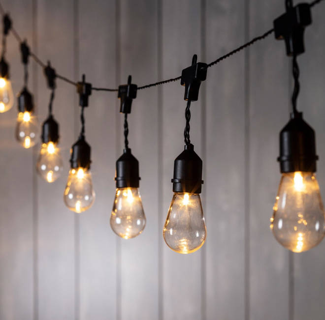 15 Drop Bulb Battery Festoon Lights