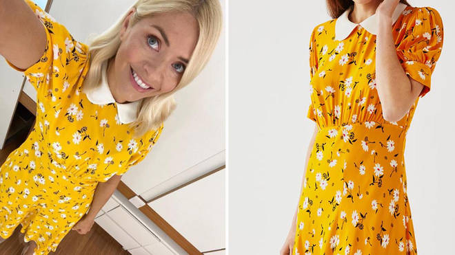 Holly Willoughby's dress is from Ghost fashion