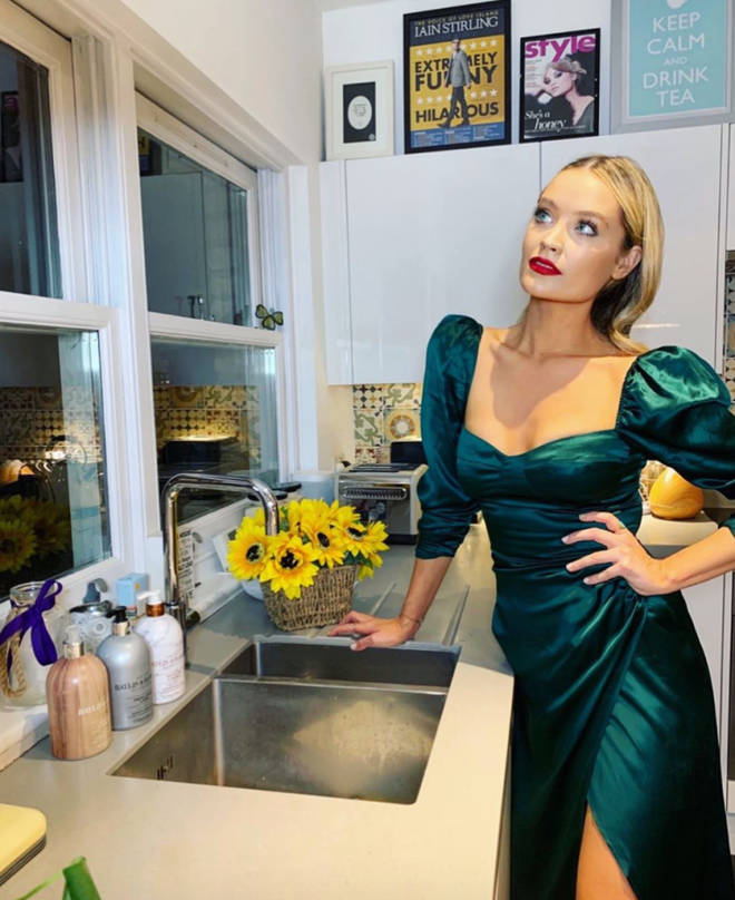 Laura Whitmore and Iain Stirling's kitchen is very chic