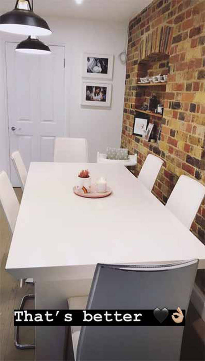 Stacey Solomon's dining room