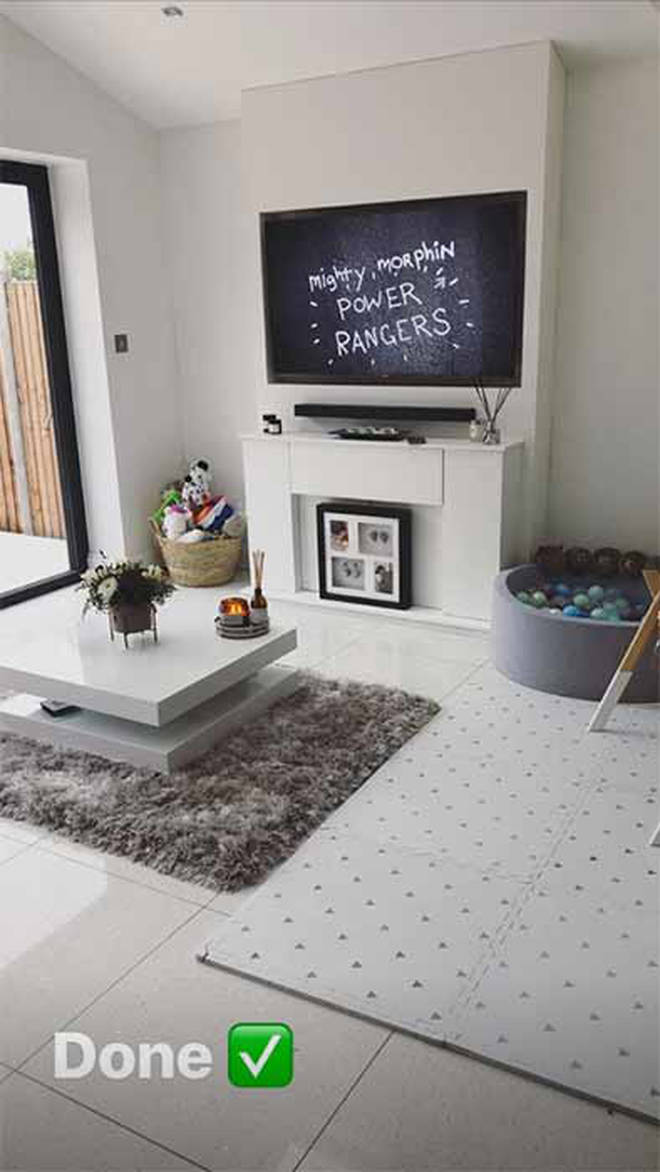 Stacey Solomon's living room