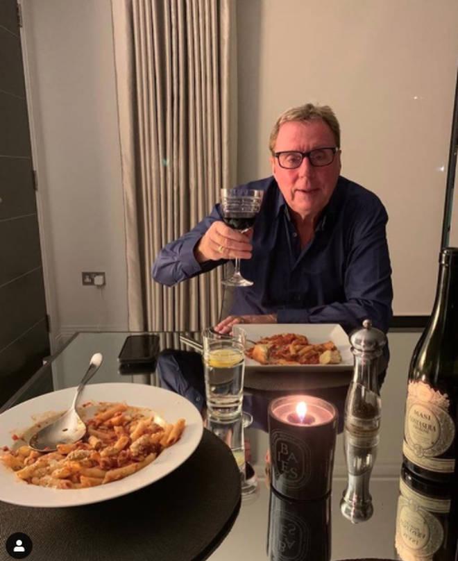 Harry Redknapp and Sandra's dining room