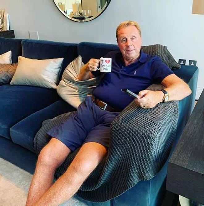 Harry Redknapp on his sofa