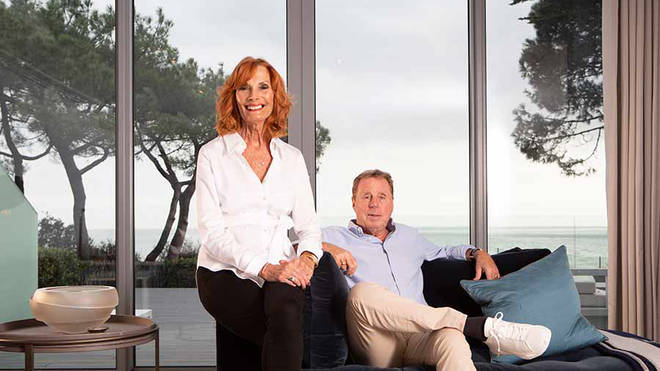 Harry Redknapp and Sandra in their house