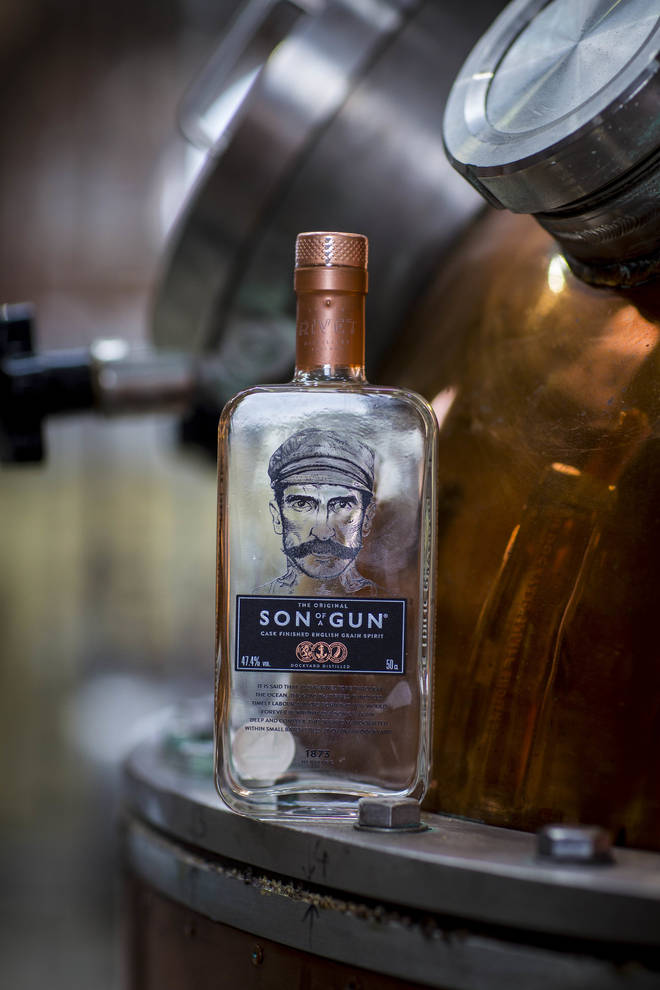 The pale whisky is a traditional English grain spirit