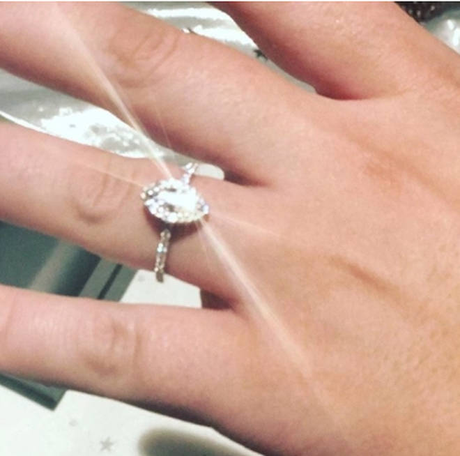 Shayne Ward shared a picture of Sophie's ring on Instagram
