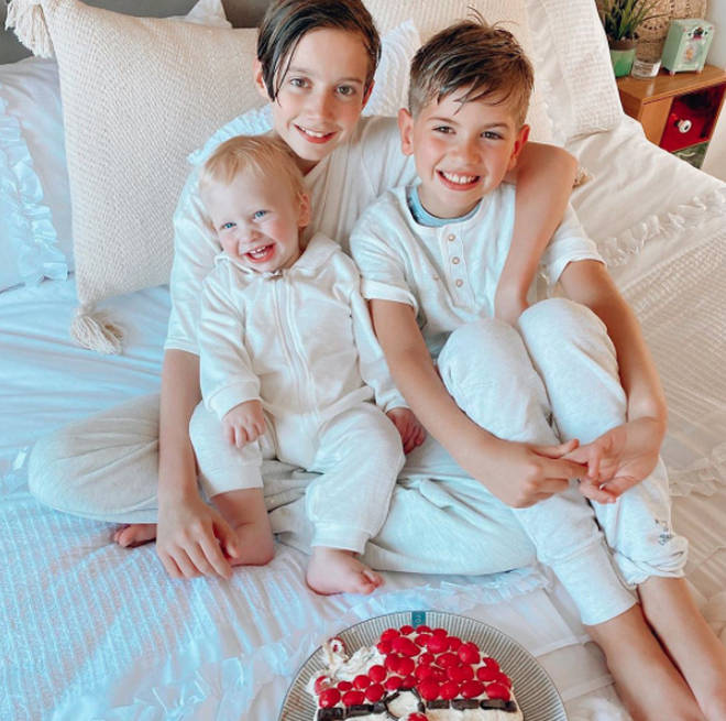 Stacey Solomon has three sons