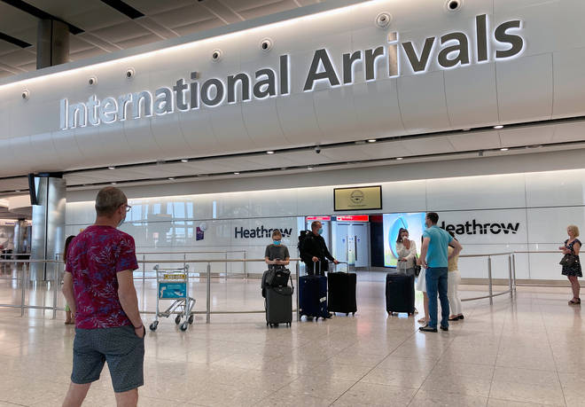 Those arriving in the UK from an air bridges country won't need to isolate