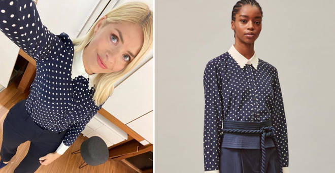 Holly Willoughby's outfit is from Tory Burch