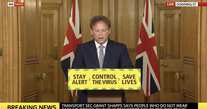Grant Shapps led the Downing Street press conference today