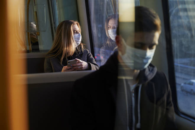 Those on buses and trains will have to wear a covering