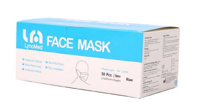 Elasticated 3PLY Face Mask, 50 pack, £30.00