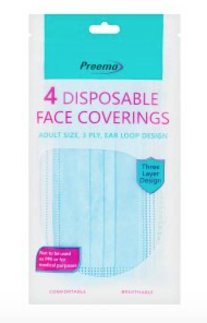 Preema Disposable Face Masks, 4 pack, £3.50
