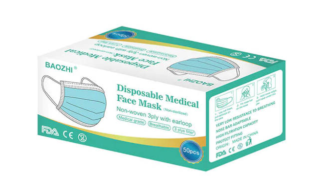 Termin8 Disposable Medical Face Mask, 50 pack, £29.99