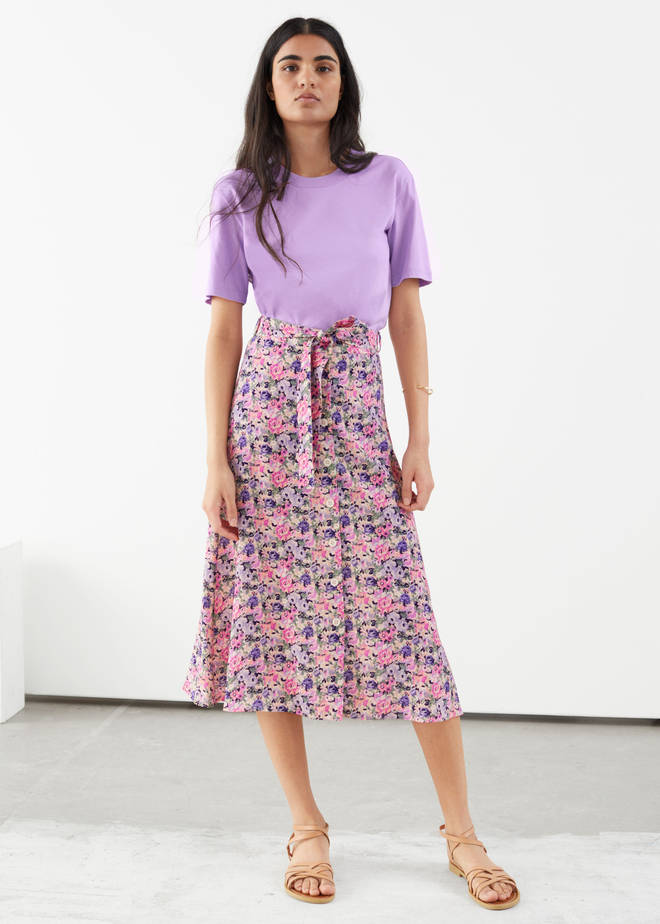 & Other Stories is selling a similar skirt to Holly Willoughby's in pink