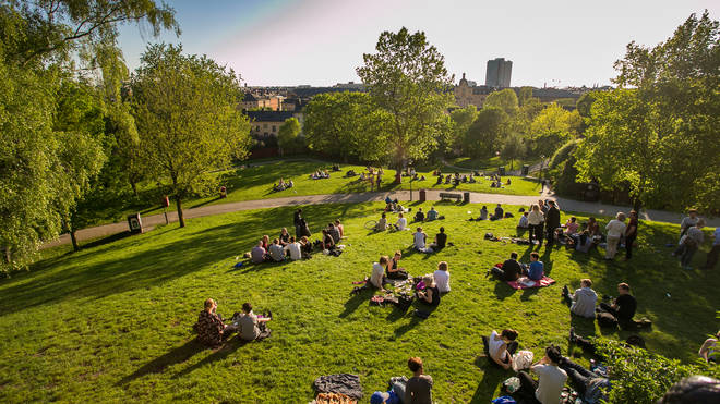 People will be able to meet in parks again as sunshine returns