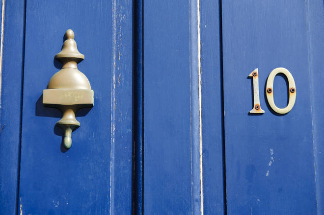 A blue door is the right way to go it seems