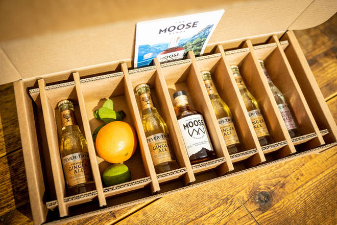 The box comes ready to make four tasty cocktails