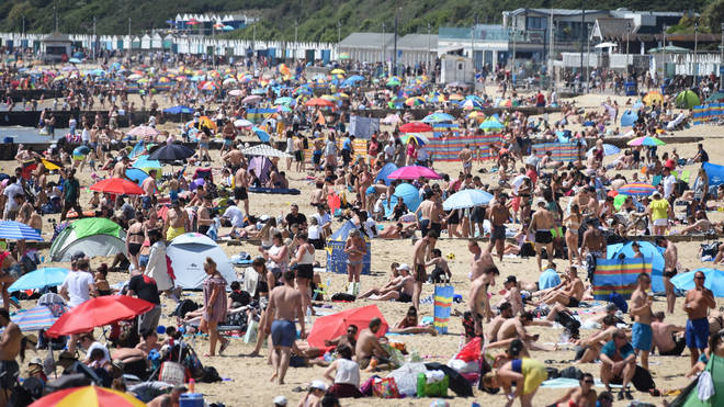 The May bank holiday saw beaches swarming with visitors