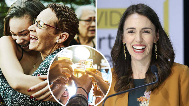 """Prime Minister Jacinda Ardern told reporters she did """"a little dance"""" when receiving the news"""