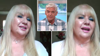 A self-confessed 'cougar gran' appeared on This Morning today