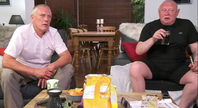 Shaun Ryder and Bez on Celebrity Gogglebox