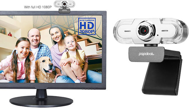 Papalook 1080P Webcam, £85.99