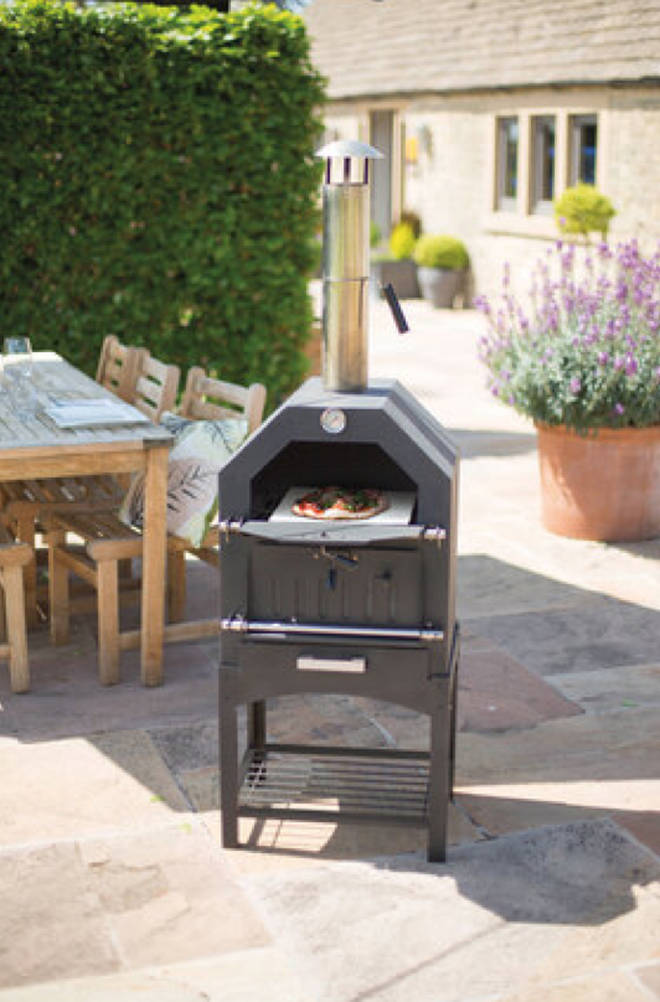 The pizza oven is perfect for long summer evenings with friends and family