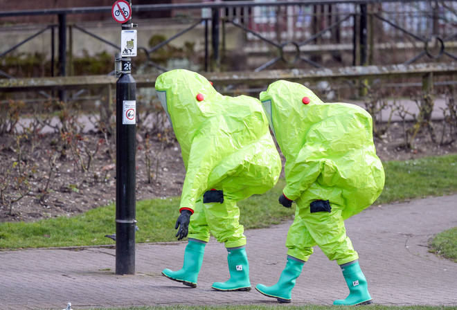 A huge clean up project got underway after the Salisbury poisonings