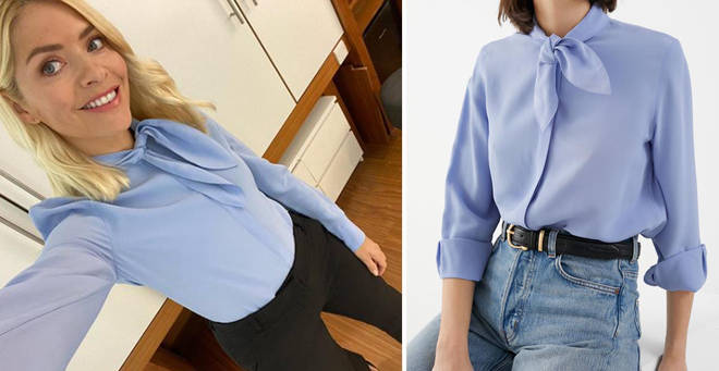 Holly Willoughby's blue blouse is from & Other Stories