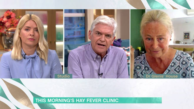 She told Holly and Phil that face masks could help prevent hayfever symptoms
