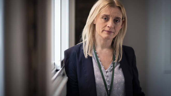 Anne-Marie Duff stars as Tracy Daszkiewicz in The Salisbury Poisonings