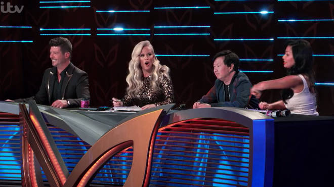 The Masked Singer US judges  Robin Thicke, Jenny McCarthy Wahlberg, Ken Jeong and Nicole Scherzinger and