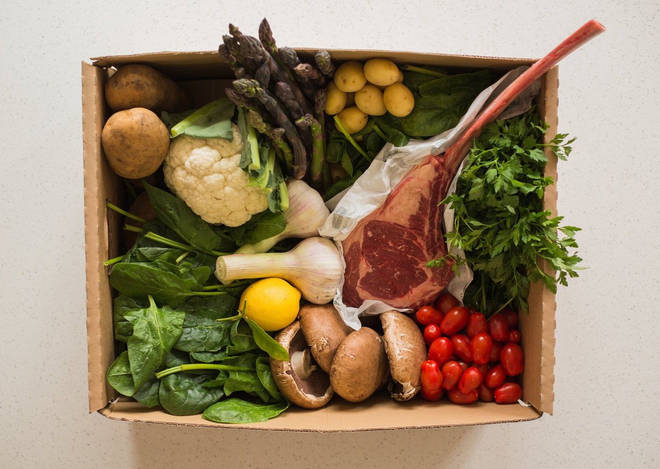 The steak box is packed full of fresh food