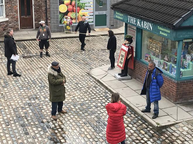 The Coronation Street set