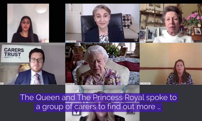 The Queen and Princess Anne spoke to carers to mark Carers Week 2020