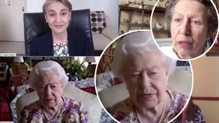 The Queen takes part in her first public video call as she supports carers week