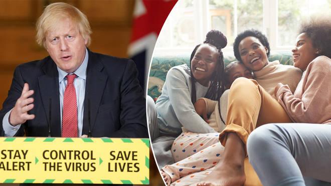Boris Johnson announced new rules around 'support bubbles'