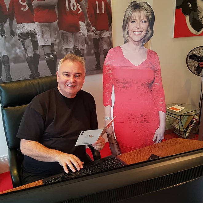 Eamonn Holmes in his study